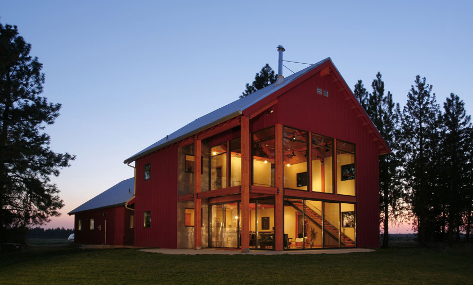 Pics of pole barn style homes joy studio design gallery for Two story barn house plans